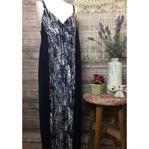 Dresses & Skirts - Navy Printed Maxi Boho Hippie Cute Vacation Dress